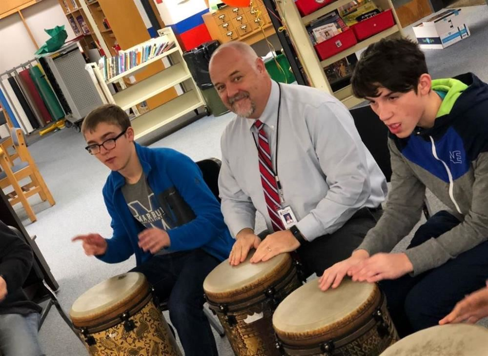 Principal playing drums photo