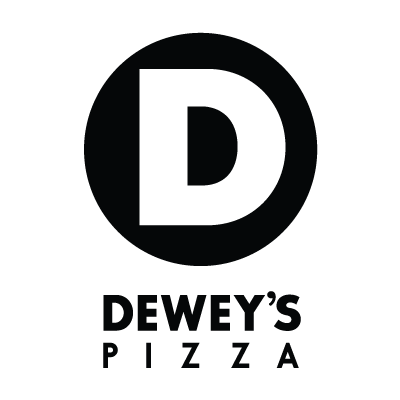 Dewey's Pizza black and white logo