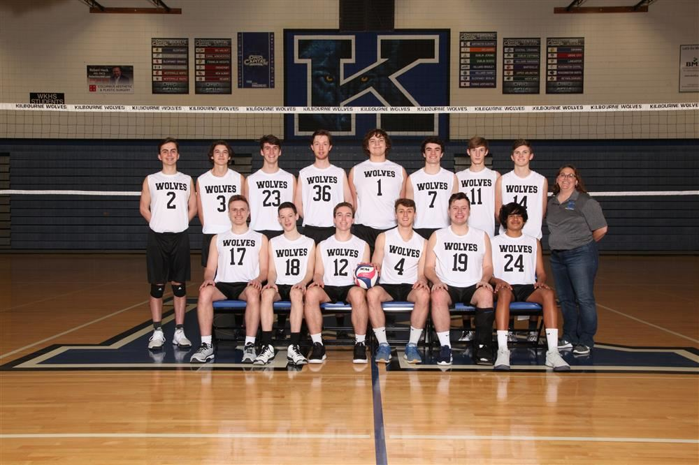 Group photo of boys volleyball team