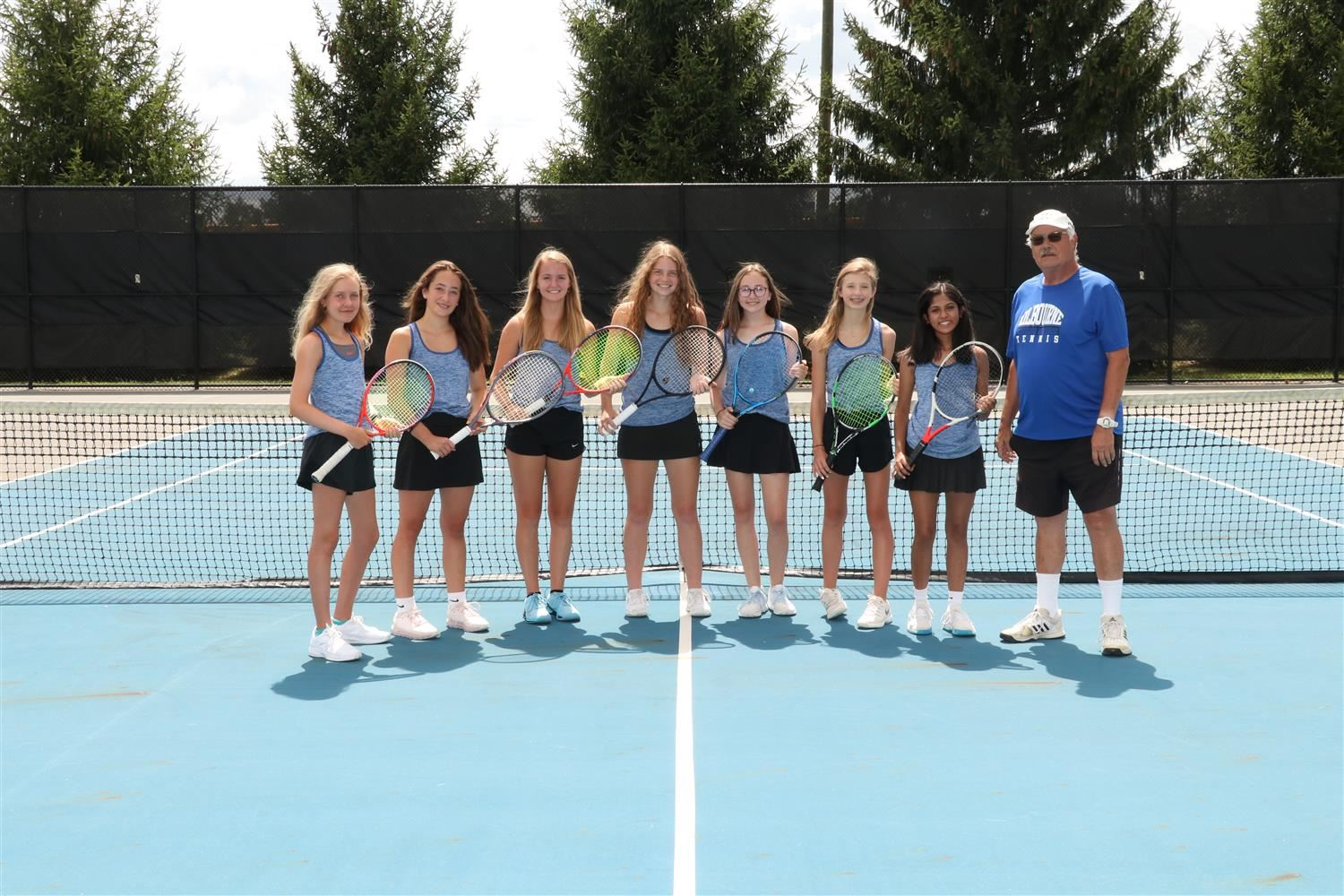Girls Varsity Tennis Team