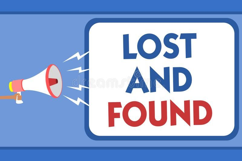 Lost and Found  --  October 14-17 -- Be sure to look for missing items!