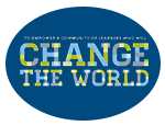 Logo with mission statement - To empower a community of learners who will change the world