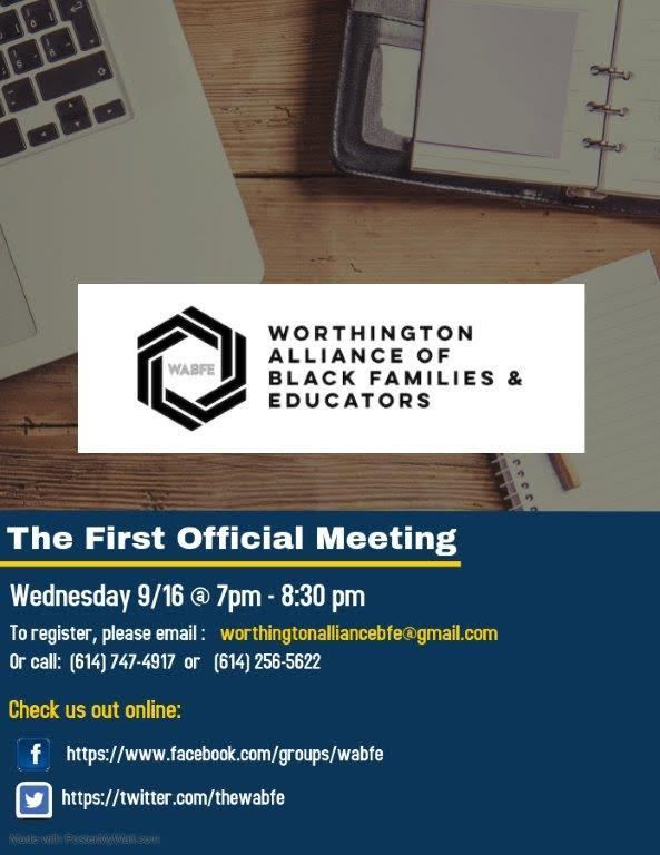 First meeting on September 16 at 7pm