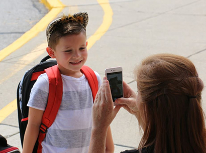 Liberty student shows up for first day of Kindergarten