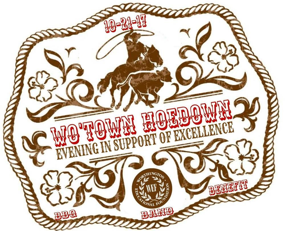 Logo for Wo'Town Hoedown event on October 21st