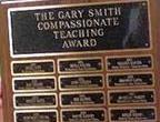 Gary Smith Teacher Award Plaque