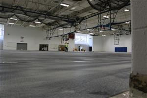 Gym floor replacement at TWHS