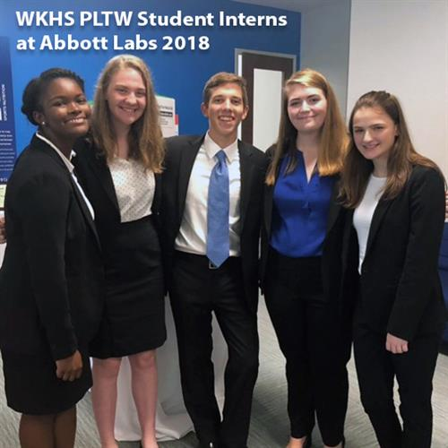 Image of Abbott Lab Summer Student Interns from Kilbourne