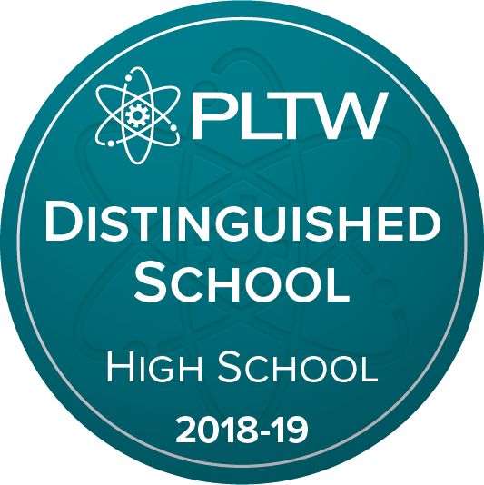 PLTW Distinguished Schools Badge
