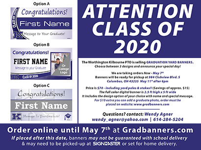 Graduation Banner image about ordering the same as the actual pdf document it's linked to