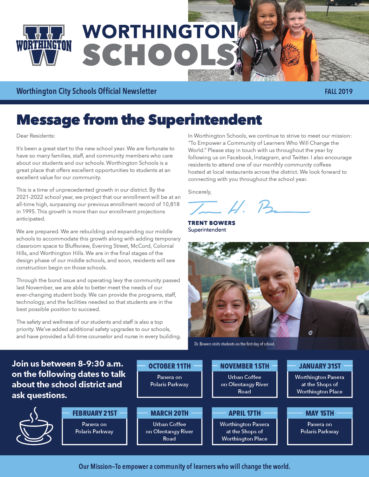 Cover page of newsletter